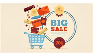 购物车促销海报矢量素材_动漫素材免费下载设计与制作