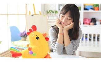 2017鸡年吉祥物毛绒玩具 五彩鸡
