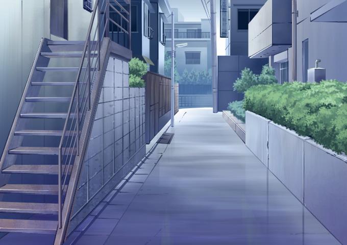 雨后的场景_ps动画背景不同时差的动画背景楼梯小巷_漫品购_MG动画短片素材 ...
