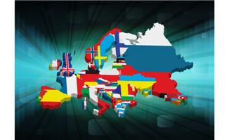 3D欧美国家版图矢量素材