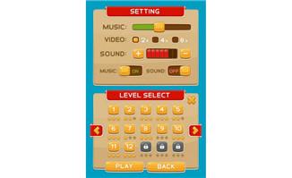 游戏UI机游戏选项界面3