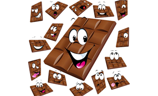 微笑巧克力各种表情png图
