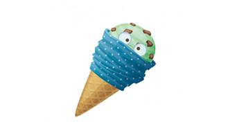 卡通形象蓝色创意冰激凌
