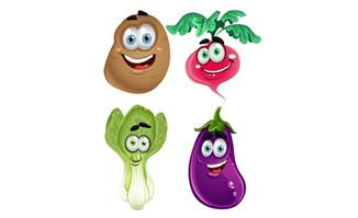 蔬菜卡通形象表情png图片