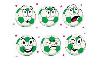 卡通足球颜表情png图片素
