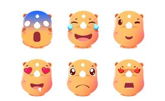 开心月饼大排档静态表情包图片素材