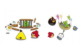 卡通愤怒的小鸟矢量图