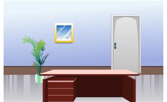 办公室门场景_flash二维动画素材mg动画制作矢量图素材扁平化设计免费