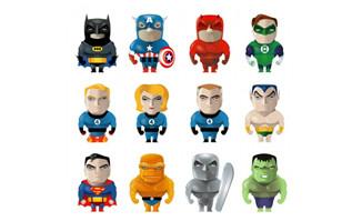 超人蜘蛛侠等卡通形象人