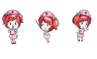 可爱卡通护士素材
