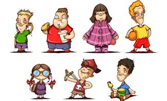 7款卡通人物图片素材