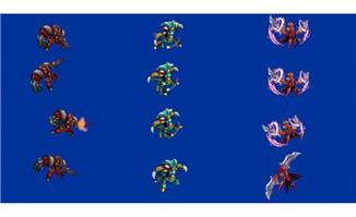 2D游戏怪物flash动画素材