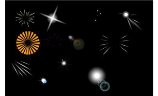 多种不同光特效flash动画
