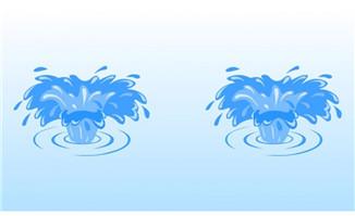 溅起水花flash动画特效
