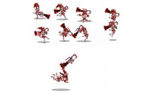 游戏人物女战士flash动画