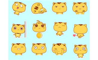 大脸猫flash微信表情
