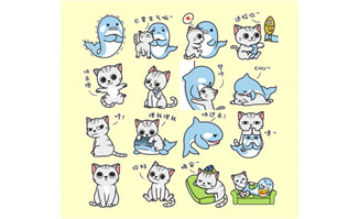 猫小爷和虎小鲸flash表情