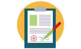 合同文件纸笔标志签名p