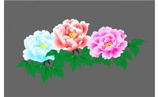 3朵美丽花朵flash动画