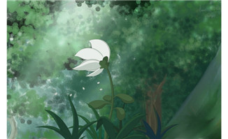 flash卡通植物开花逐帧动画