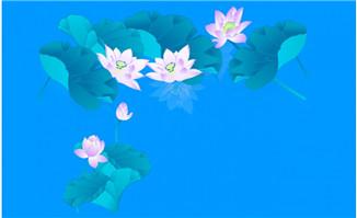 池塘里荷花flash动画素材