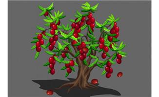 樱桃树果实掉落flash动画