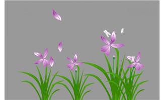 绿色草本花卉植物设计