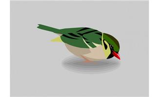 小鸟蚕食flash动画素材