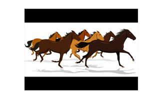 一群马奔跑flash动画素材