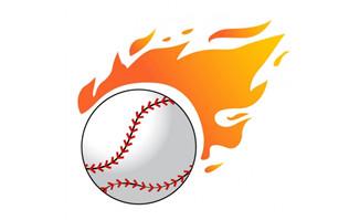 火焰棒球矢量素材