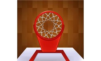 篮筐俯视图矢量素材