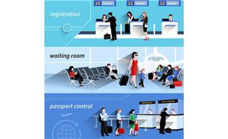 机场程序背景图片