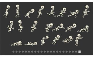21种骷髅动作动画效果素材