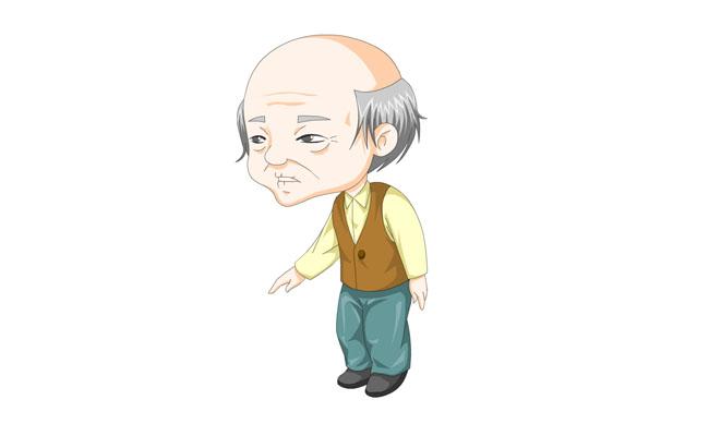 flash制作q版老爷爷卡通人物动画
