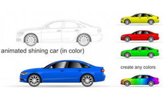动态轿车动画效果素材下