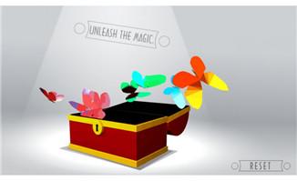 打开箱子蝴蝶飞舞flash动画