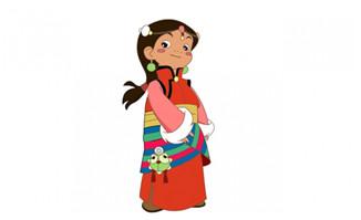 带配音的西藏小卓玛flas