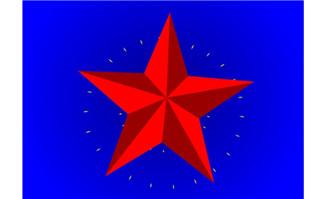 红色五角星片头特效an软件