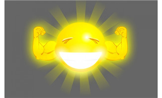 卡通呲牙的太阳flash素材