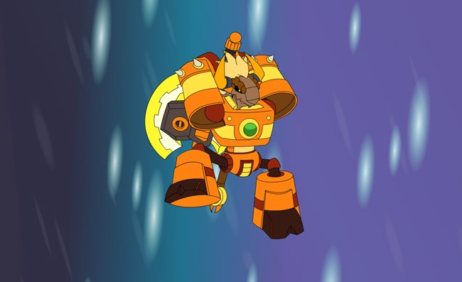 flash素材 flash小动画 > 卡通机器人flash爆炸动画源码  热门素材