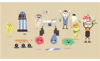 卡通全自动机器人flash动画
