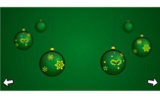 圣诞树和圣诞彩球flash动画