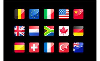 世界各国国旗flash图标素材