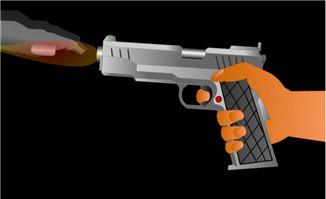 手枪开火flash矢量素材
