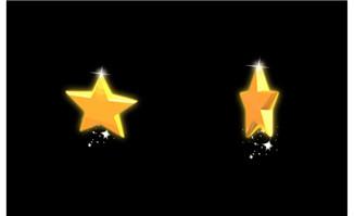 五角星立体旋转flash动画