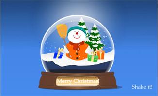 雪花水晶球flash圣诞节动画