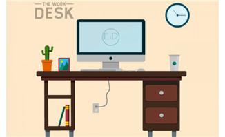 桌子电脑运动规律flash动画