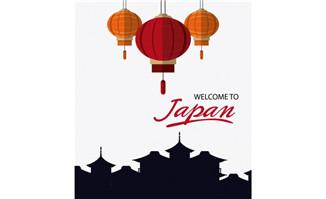欢迎来日本矢量海报设计
