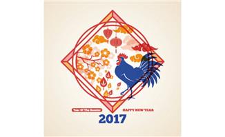 2017鸡年矢量素材节日素材
