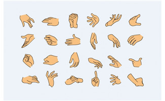 矢量手型各种手势flash源代